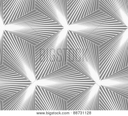 Monochrome Gradually Striped Three Ray Stars