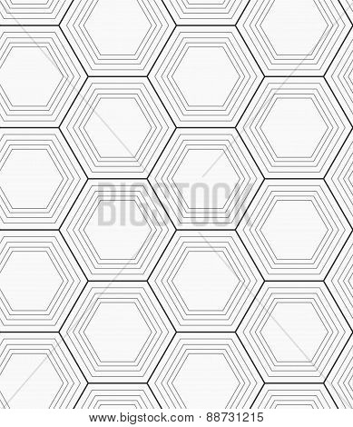 Monochrome Hexagons