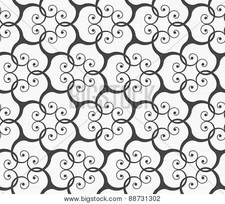 Monochrome Spirals Forming Grid