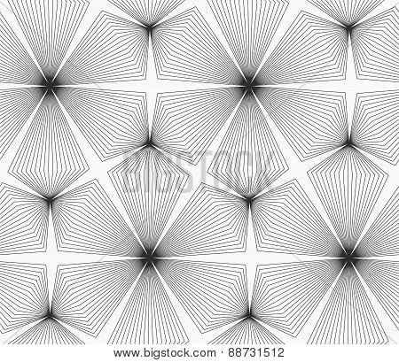 Slim Gray Linear Stripes Rhombus Trefoils