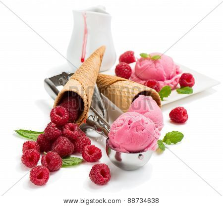 Raspberry And Ice Cream