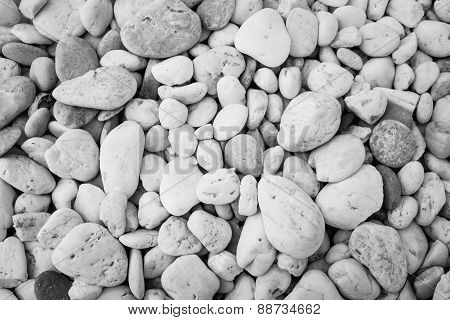 Sea Stones Laid Out In The Form Of A Circle,background Texture