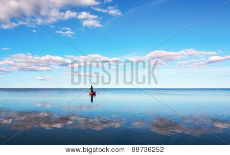 Fishing In Blue Sea