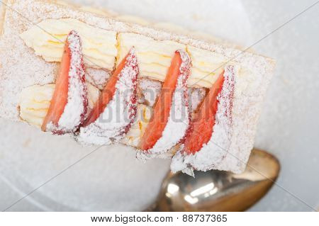 Napoleon Strawberry Cake Dessert