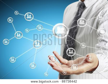 social network structure, new technology  in hand