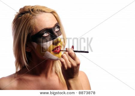 Woman Doing Fashion Make-up
