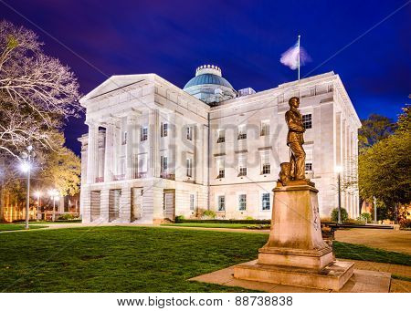 Raleigh, North Carolina, USA State Capitol Building.