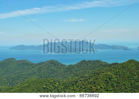 Tropics, mountains, the ocean and the green island