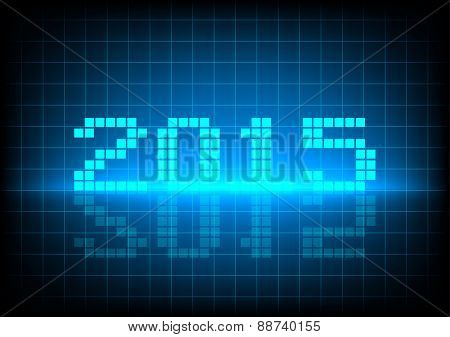 Abstrack Background  Two Zero One Five On Blue Color