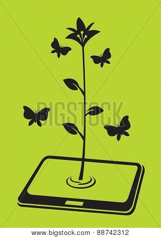 Blossom Of Electronic Digital Tablet