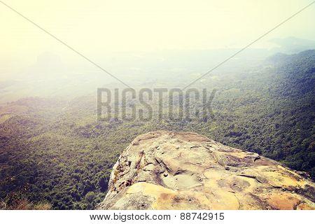 beautiful landscape from mountain peak rock,thailand