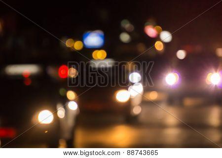 blur of traffic