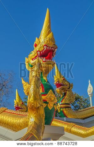 Dragon Statue At Wat Kaew Korawaram Temple
