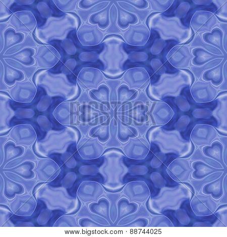 Seamless Kaleidoscope Texture Or Pattern In Blue 3