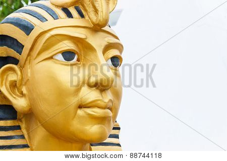 Golden Pharaoh Statue