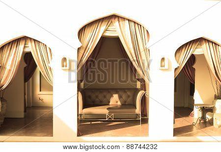 Leather Sofa, Yellow Tone