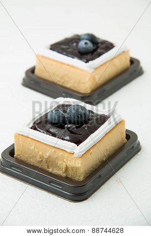Blueberry Cream Cheese Cake On White