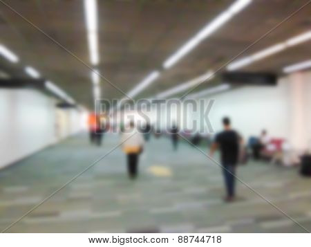Blurry Defocused People In Airport