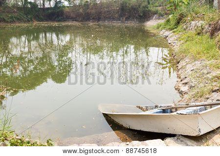 Boat Docking Beside The Lake