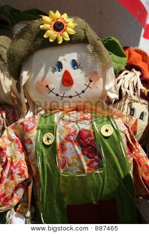 Colorful Scarecrows