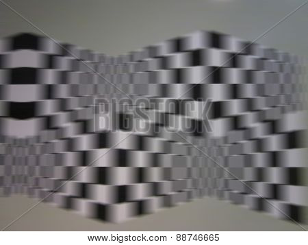 Black And White Square Illustration Abstract