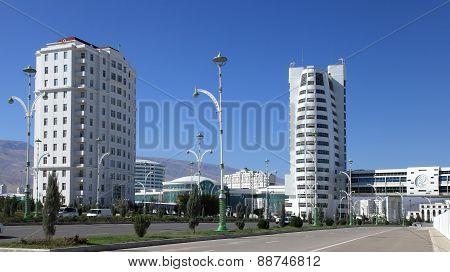 Ashgabat, Turkmenistan - October 23, 2014: Part Of The Complex - Olympic Village (ashgabat, 2017). O