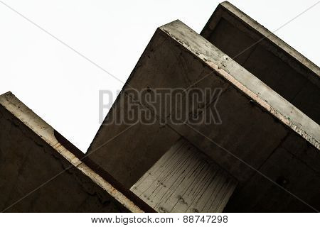 Concrete Surfaces Of The Unfinished Building