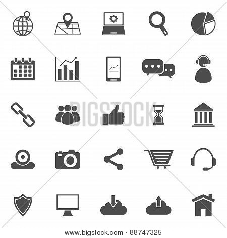 Seo Icons On White Background
