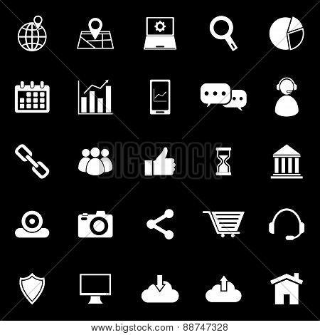Seo Icons On Black Background