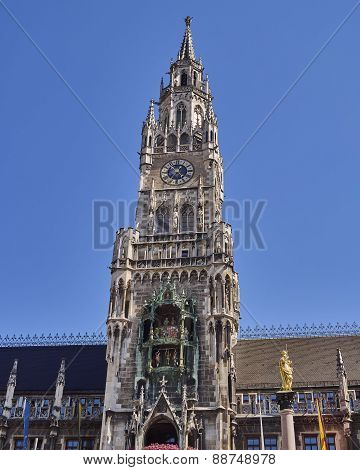 the tower of the town hall Munich, Germany