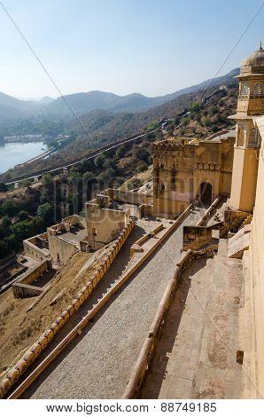 Beautiful Amber Fort In Jaipur