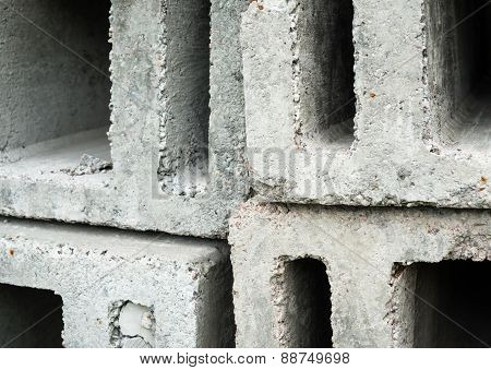 Stack Of The Concrete Ventilation Blocks