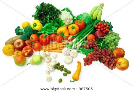 Vegetables And Fruits Arrangement 2