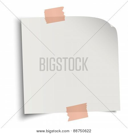 Note Paper With Adhesive Strip