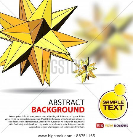 Abstract Background With Yellow Polygonal Figures With Space For
