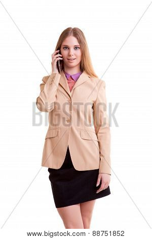 Young Succesful Businesswoman Talking On The Phone