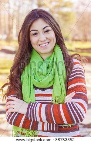 Happy Lovely Beautiful Girl Portrait