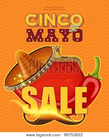 Cinco de Mayo. Sale poster.