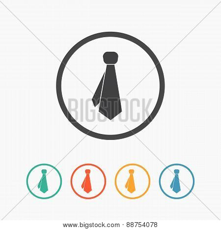 Tie icon vector - flat sign
