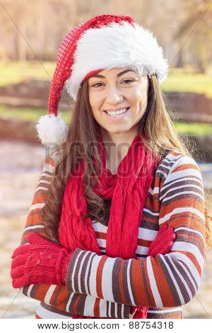 Happy Christmas Young Woman