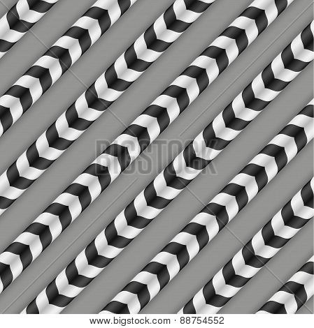 Moving Stripes, Optical Illusion, Vector Seamless Pattern. Some