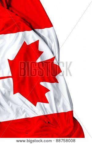 Canadian waving flag on white background