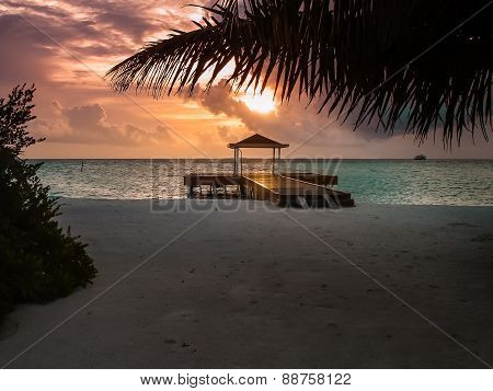 Sunset On An Atoll, Maldives