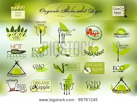 Organic icons and logos for your design
