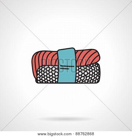 Flat vector icon for nigiri sushi