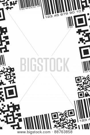Frame In Barcode Style