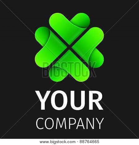 Abstract logo clover