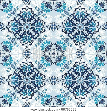 Seamless abstract floral pattern for fabric