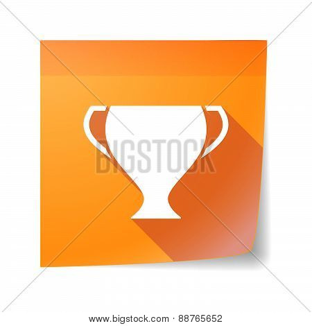 Sticky Note Icon With An Award Cup