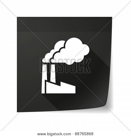 Sticky Note Icon With A Factory